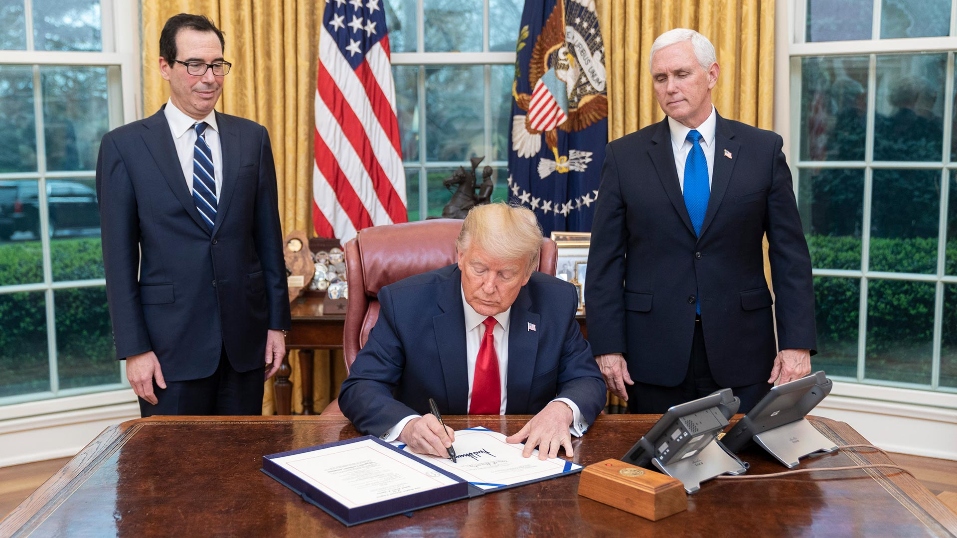 President Trump Signs Care Act